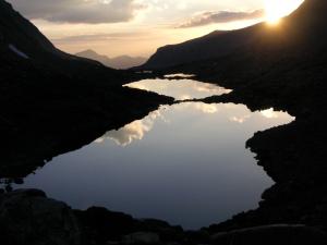 View down Darwin Canyon Lakes