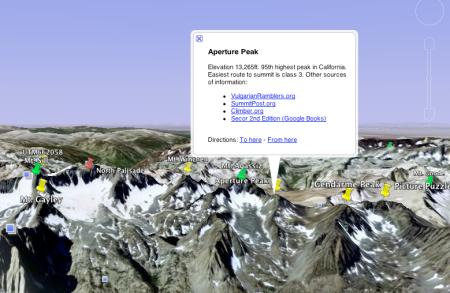Google Earth peaks