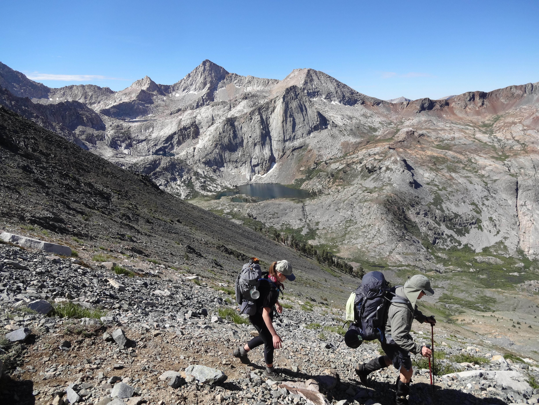 Descending from Black Rock Pass