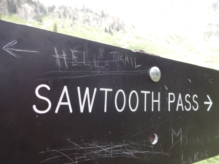 Sawtooth Pass sign